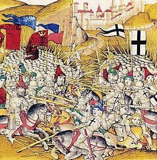 Schlacht bei Tannenberg 1410, Spiezer Chronik, um 1513
