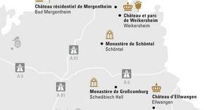 "Carte de région ""Hohenlohe & Ellwangen"""