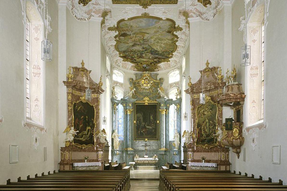 Residenzschloss Mergentheim, Schlosskirche; Foto: Landesmedienzentrum Baden-Württemberg, Steffen Hauswirth
