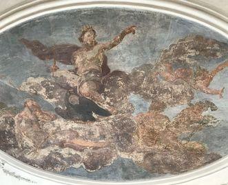 Residenzschloss Mergentheim, Götterzimmer Deckengemälde