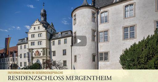 """Startbildschirm des Filmes """"Residenzschloss Mergentheim: Informationen in Gebärdensprache"""""""