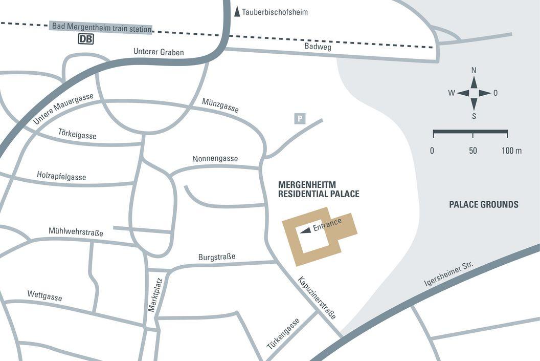 Journey description Mergentheim Residential Palace, illustration: Staatlich