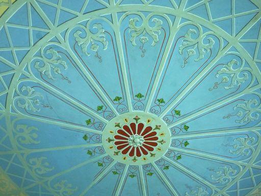 Residenzschloss Mergentheim, Schellenhaus im Schlossgarten, Deckenmalerei