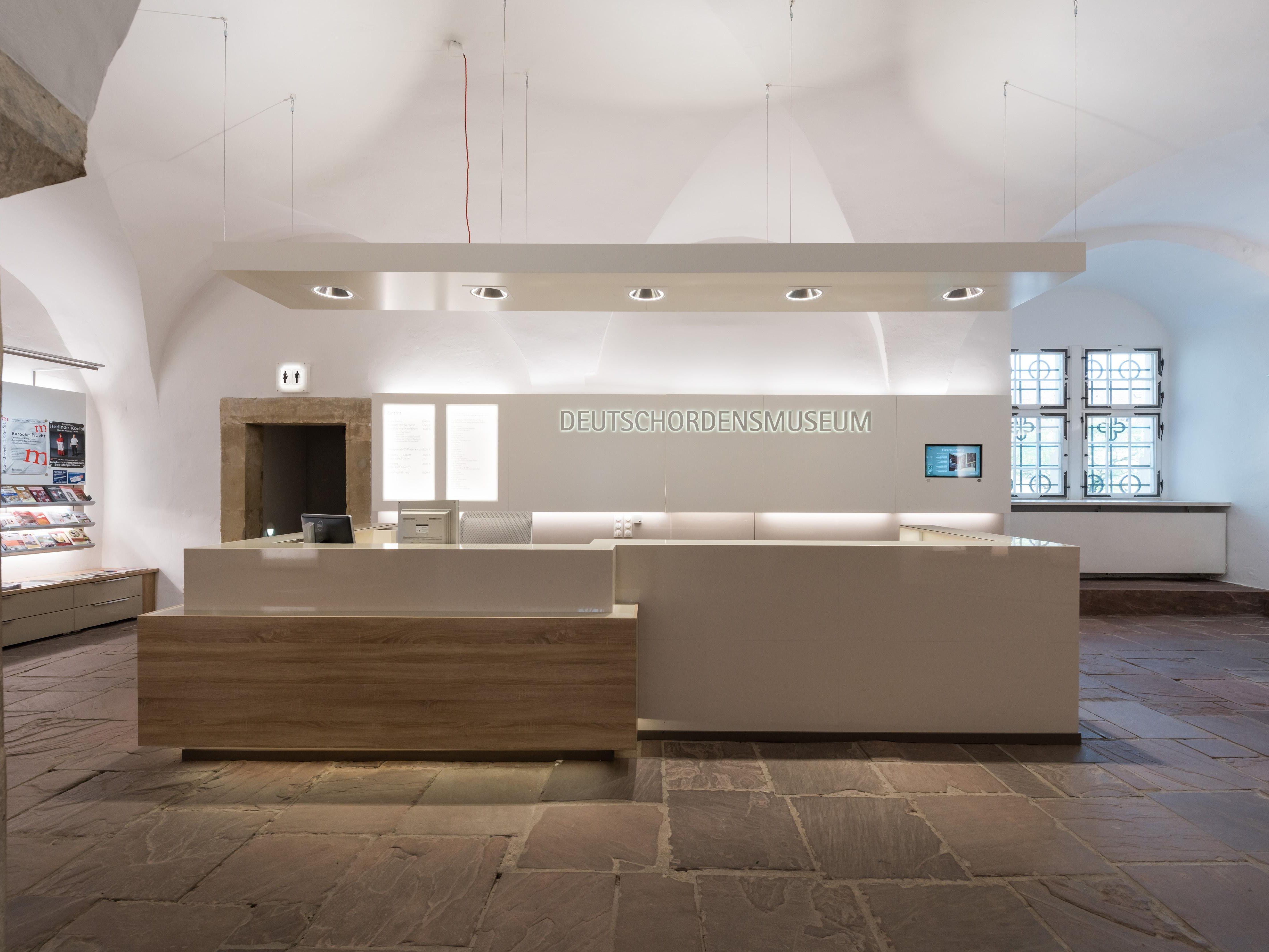 Residenzschloss Mergentheim, Empfangsbereich und Shop