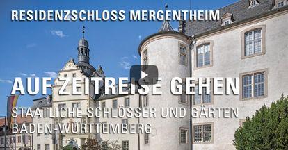 """Startbildschirm des Filmes """"Zeitreise mit Michael Hörrmann: Residenzschloss Mergentheim"""""""