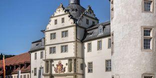 Residenzschloss Mergentheim, Detail der Aussenansicht.