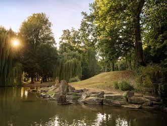 Château résidentiel de Mergentheim, parc du château