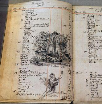 Residenzschloss Mergentheim, Seite aus dem Haushaltungsbuch Mörikes