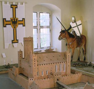 Residenzschloss Mergentheim, Modell der Burg Rehden, Ausstellung Deutscher Orden