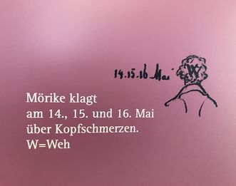 Residenzschloss Mergentheim, Mörike-Kabinett, Zeichnung